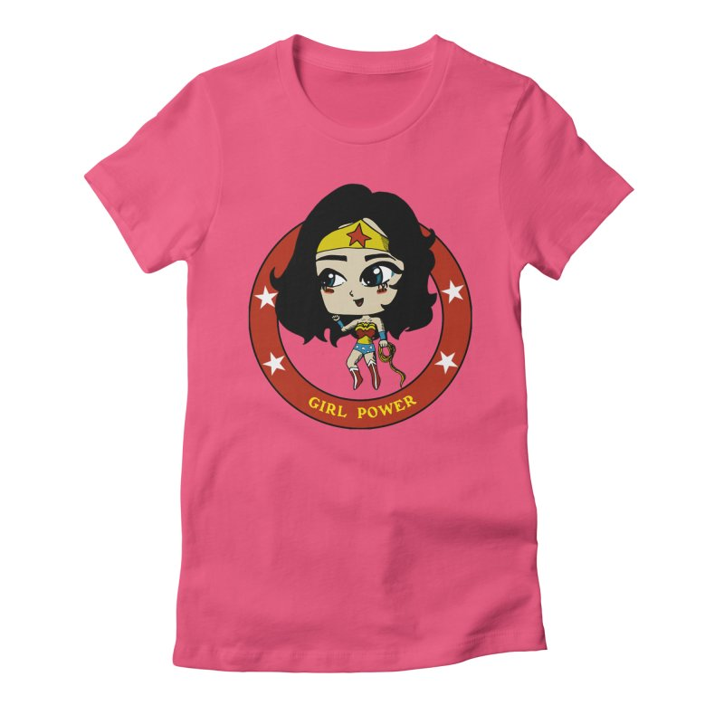 Girl Power! (Diana) Women's Fitted T-Shirt by LydiaJae's Artist Shop