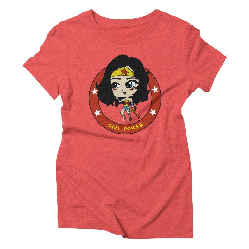 Girl Power! (Diana) Women's Triblend T-Shirt by LydiaJae's Artist Shop