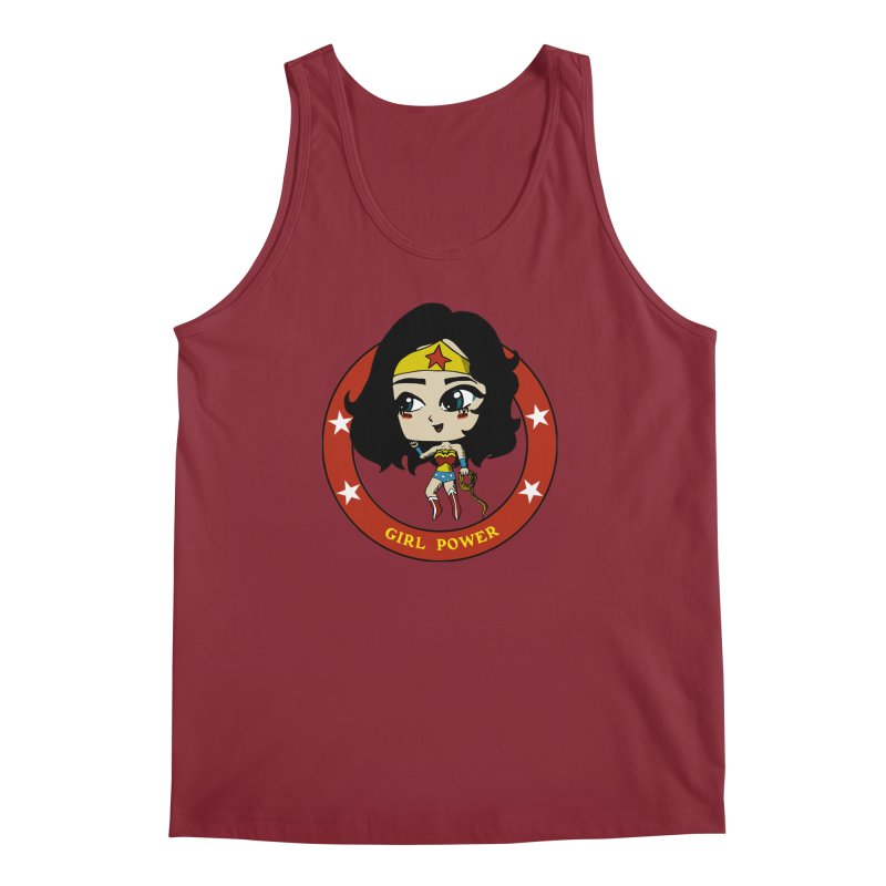 Girl Power! (Diana) Men's Regular Tank by LydiaJae's Artist Shop