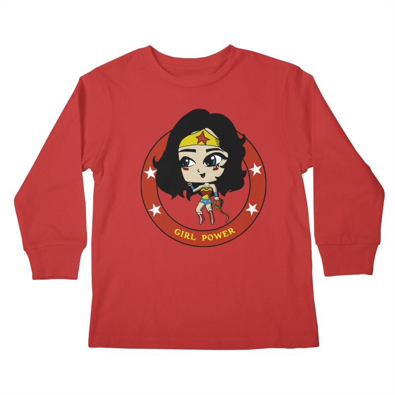 Girl Power! (Diana) Kids Longsleeve T-Shirt by LydiaJae's Artist Shop