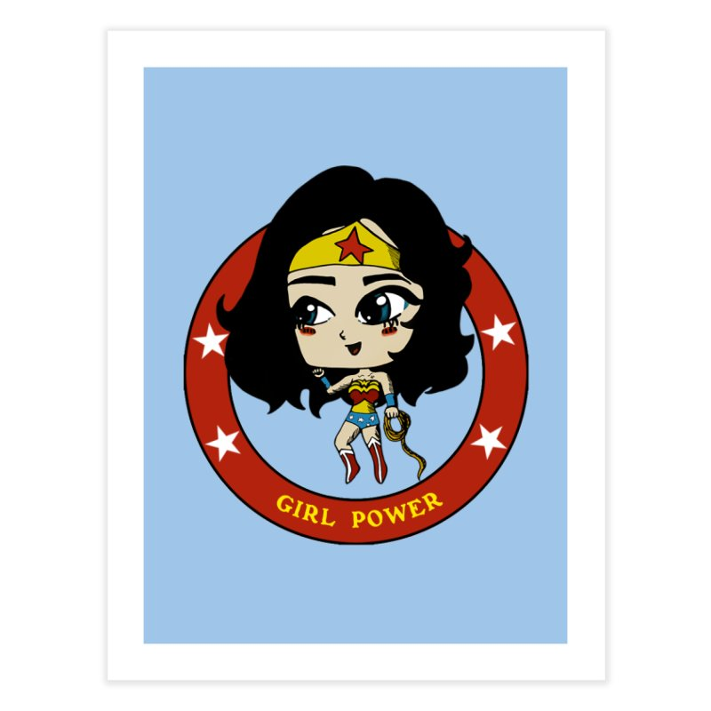 Girl Power! (Diana) Home Fine Art Print by LydiaJae's Artist Shop