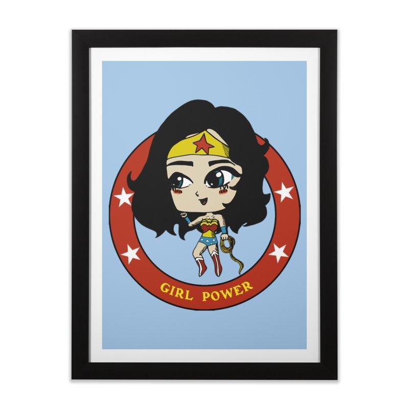 Girl Power! (Diana) Home Framed Fine Art Print by LydiaJae's Artist Shop