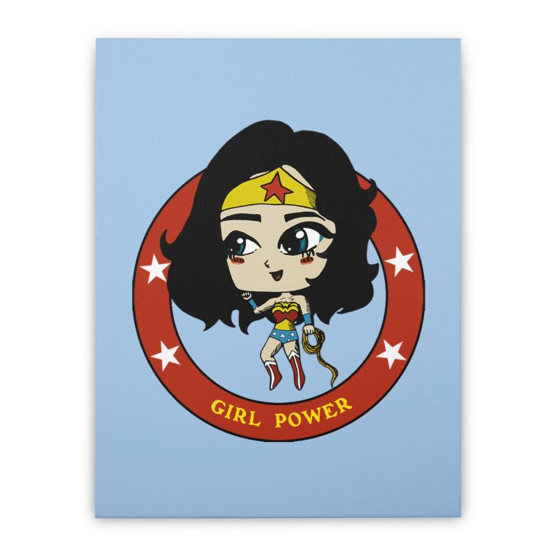 Girl Power! (Diana) Home Stretched Canvas by LydiaJae's Artist Shop