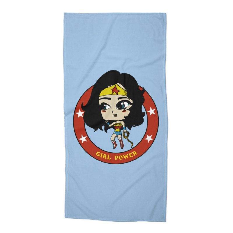Girl Power! (Diana) Accessories Beach Towel by LydiaJae's Artist Shop