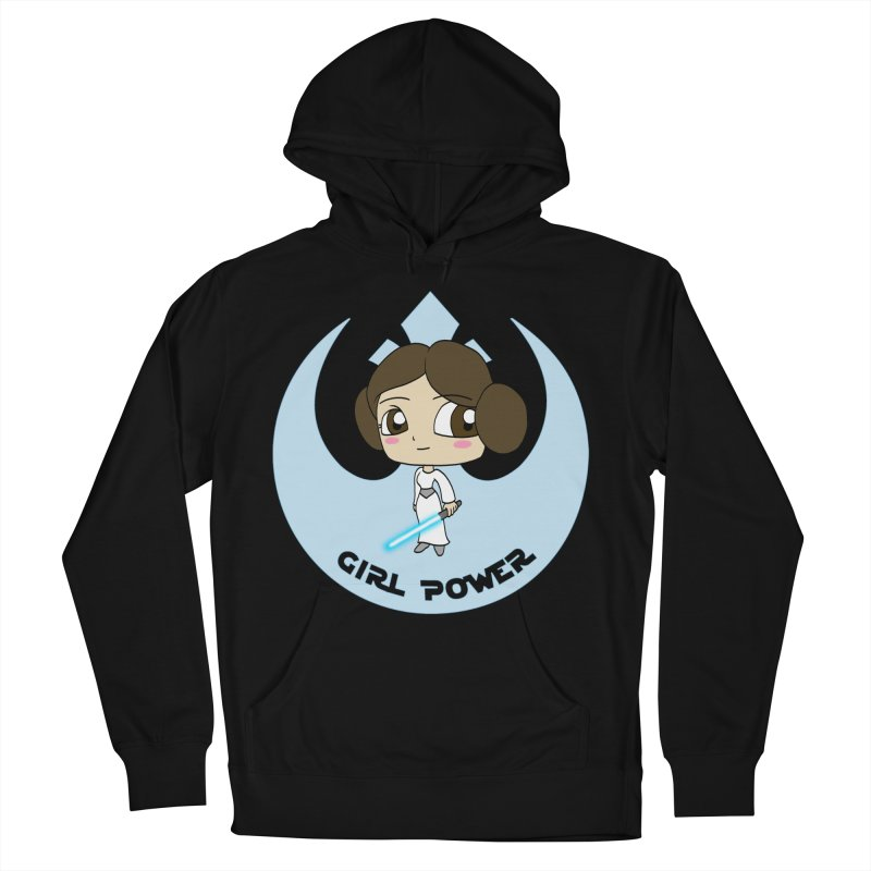 Girl Power! (Leia) Men's French Terry Pullover Hoody by LydiaJae's Artist Shop
