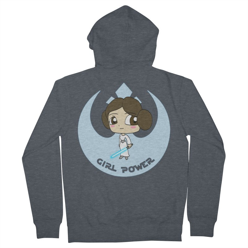 Girl Power! (Leia) Women's French Terry Zip-Up Hoody by LydiaJae's Artist Shop