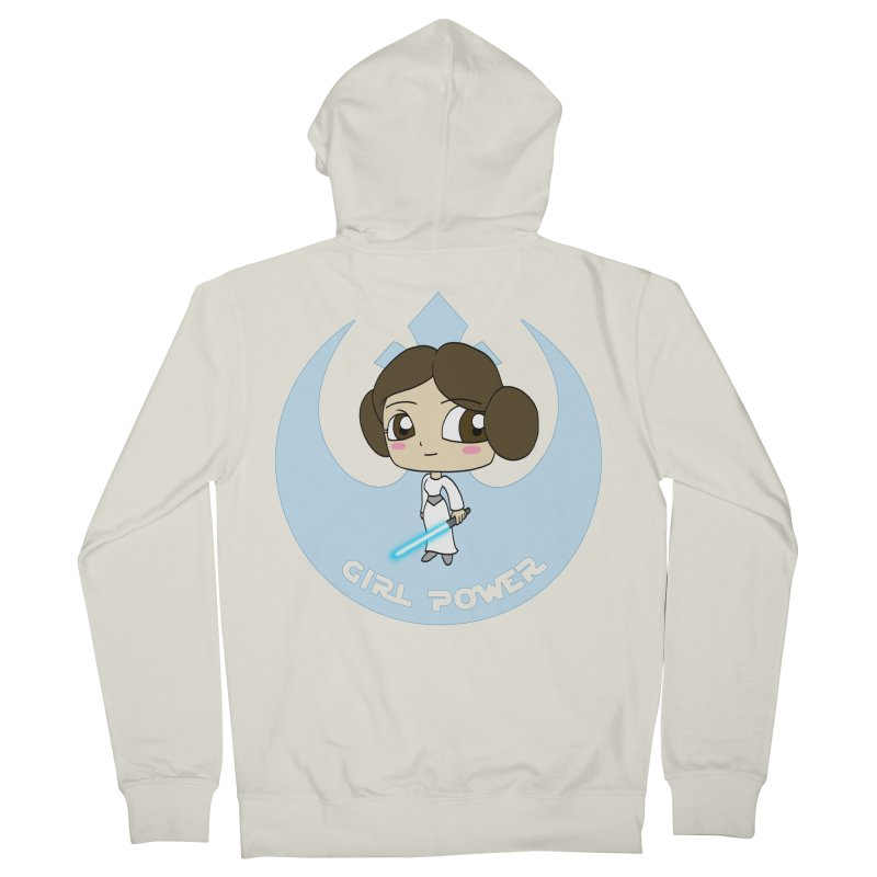 Girl Power! (Leia) Men's French Terry Zip-Up Hoody by LydiaJae's Artist Shop