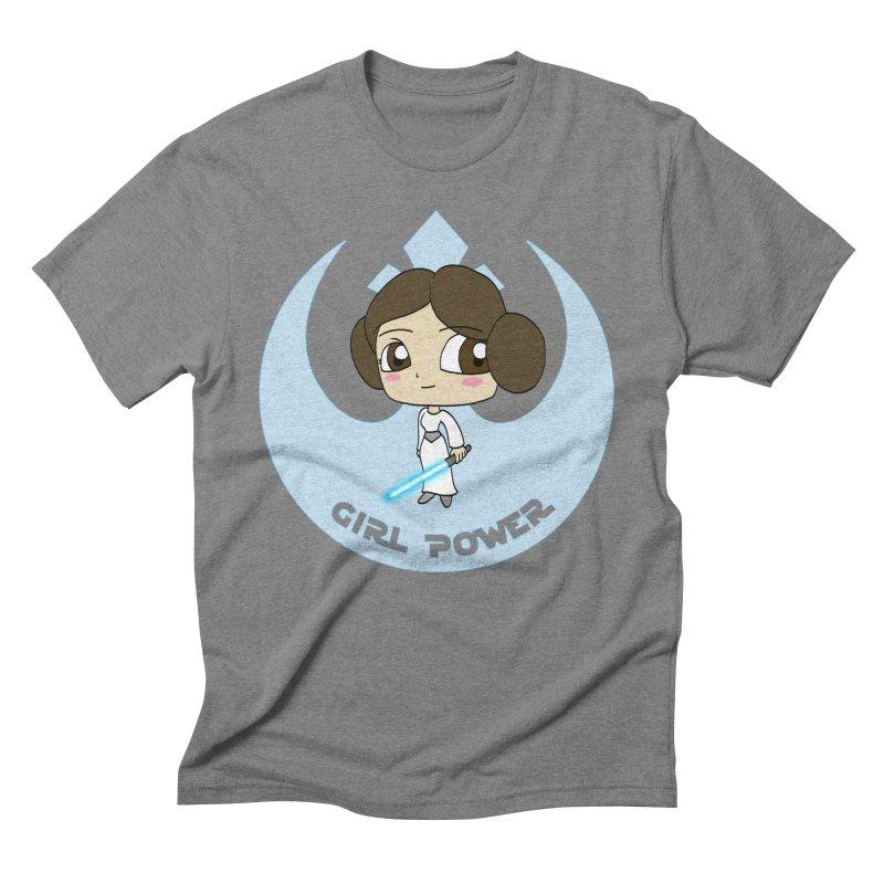 Girl Power! (Leia) Men's Triblend T-Shirt by LydiaJae's Artist Shop