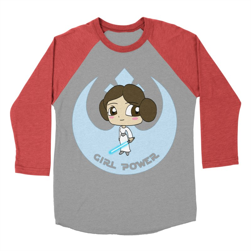 Girl Power! (Leia) Women's Baseball Triblend Longsleeve T-Shirt by LydiaJae's Artist Shop