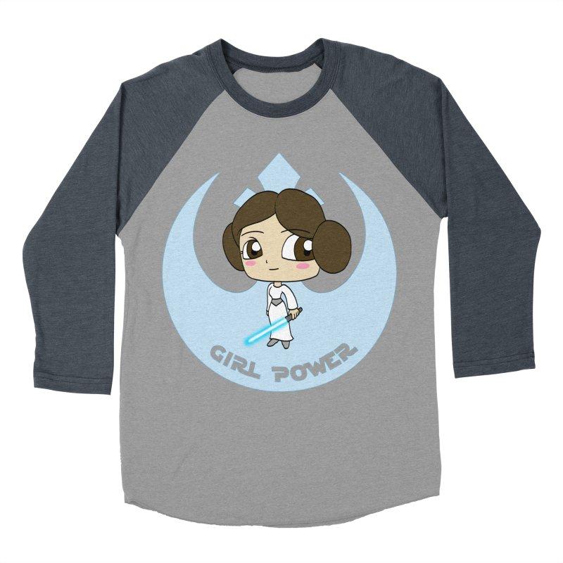 Girl Power! (Leia) Women's Baseball Triblend Longsleeve T-Shirt by LydiaJae's Artist Shop