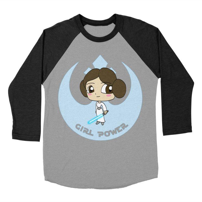 Girl Power! (Leia) Men's Baseball Triblend Longsleeve T-Shirt by LydiaJae's Artist Shop