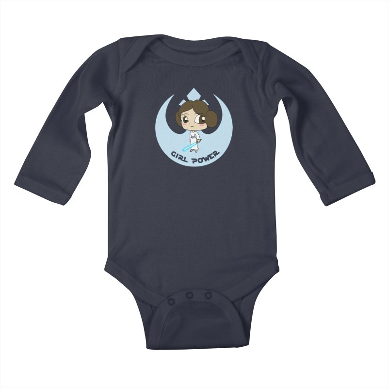 Girl Power! (Leia) Kids Baby Longsleeve Bodysuit by LydiaJae's Artist Shop
