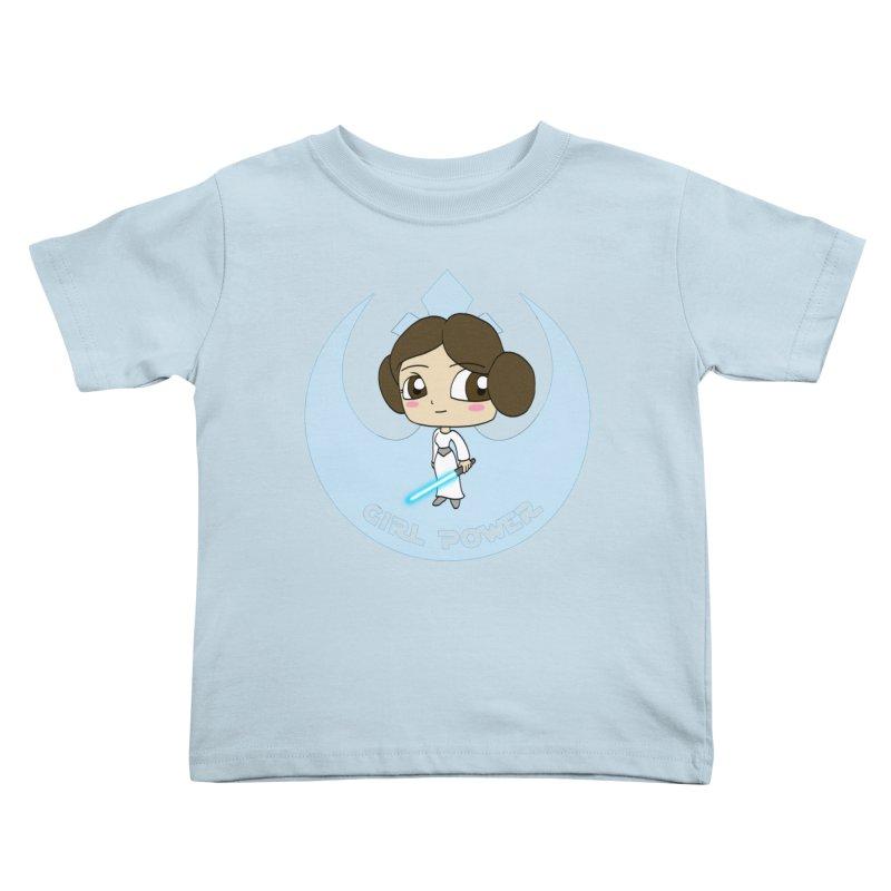 Girl Power! (Leia) Kids Toddler T-Shirt by LydiaJae's Artist Shop