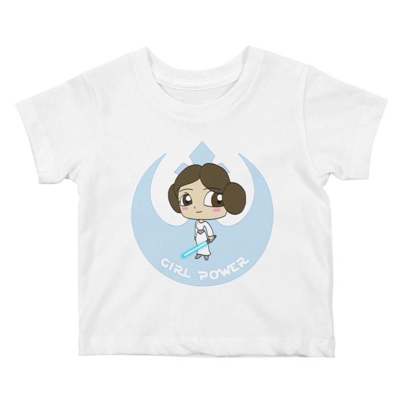 Girl Power! (Leia) Kids Baby T-Shirt by LydiaJae's Artist Shop