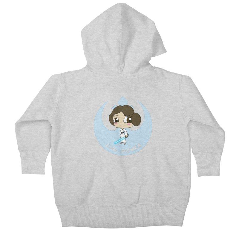 Girl Power! (Leia) Kids Baby Zip-Up Hoody by LydiaJae's Artist Shop