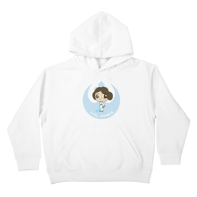 Girl Power! (Leia) Kids Pullover Hoody by LydiaJae's Artist Shop