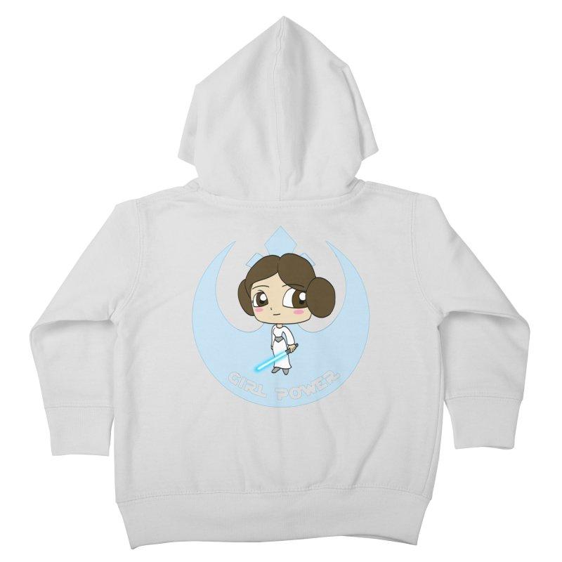 Girl Power! (Leia) Kids Toddler Zip-Up Hoody by LydiaJae's Artist Shop
