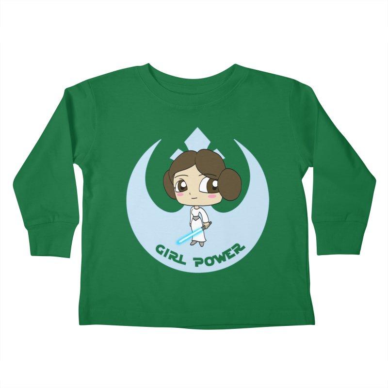 Girl Power! (Leia) Kids Toddler Longsleeve T-Shirt by LydiaJae's Artist Shop