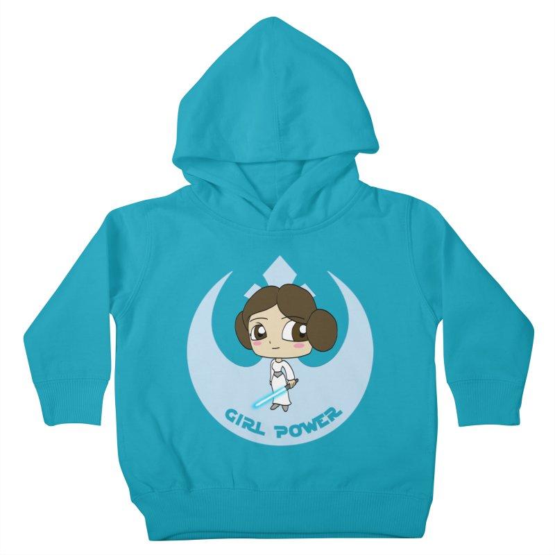 Girl Power! (Leia) Kids Toddler Pullover Hoody by LydiaJae's Artist Shop