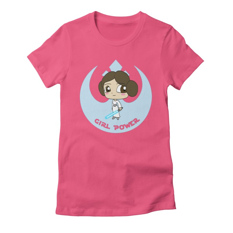 Girl Power! (Leia) Women's Fitted T-Shirt by LydiaJae's Artist Shop