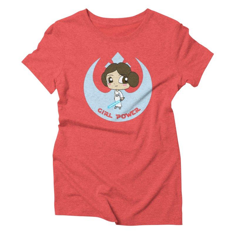 Girl Power! (Leia) Women's Triblend T-Shirt by LydiaJae's Artist Shop