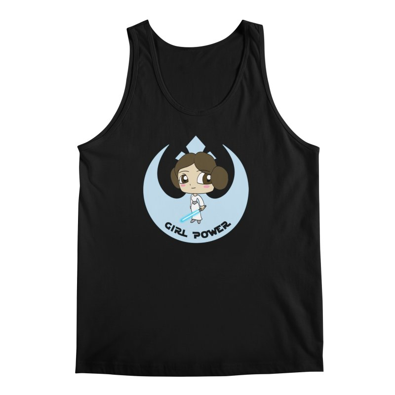 Girl Power! (Leia) Men's Regular Tank by LydiaJae's Artist Shop