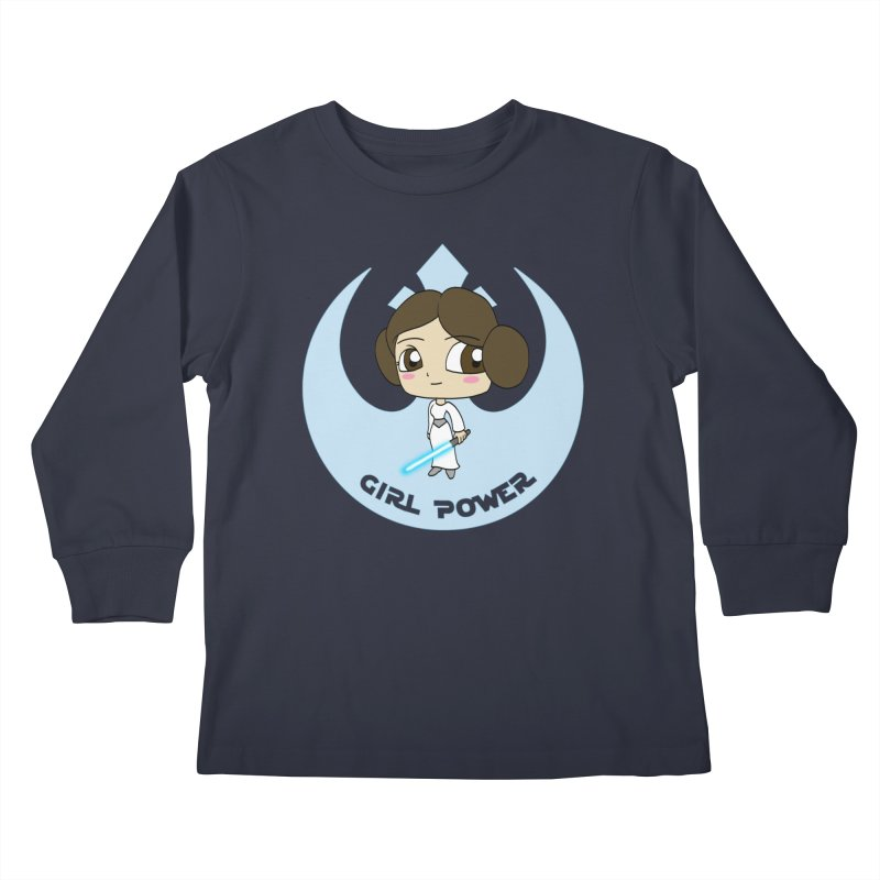 Girl Power! (Leia) Kids Longsleeve T-Shirt by LydiaJae's Artist Shop