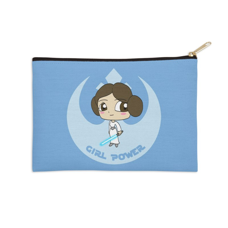 Girl Power! (Leia) Accessories Zip Pouch by LydiaJae's Artist Shop