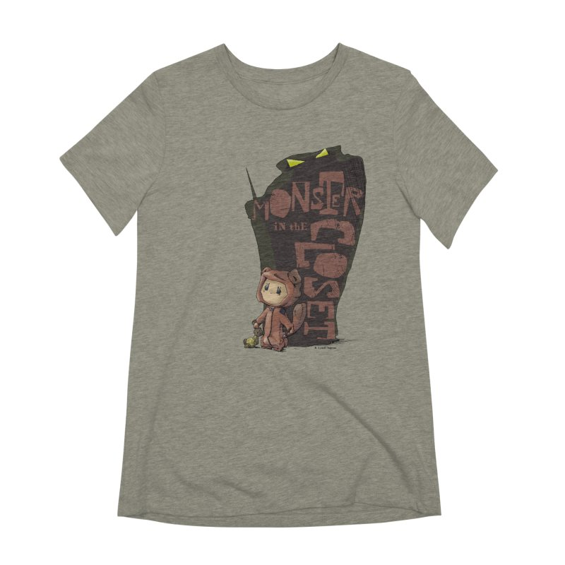 Monster in the Closet Women's Extra Soft T-Shirt by Lynell Ingram's Shop