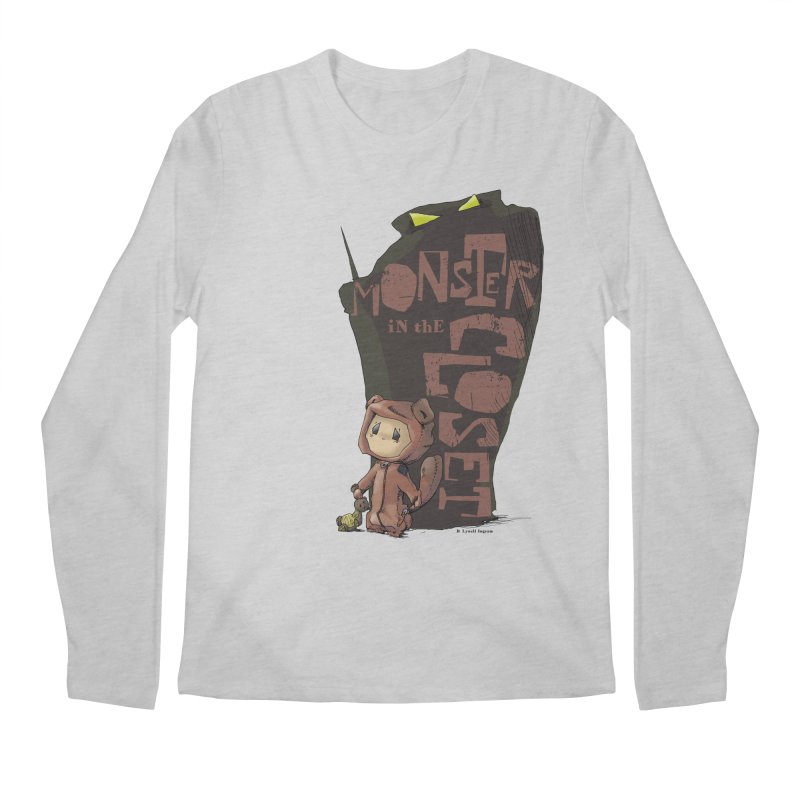 Monster in the Closet Men's Regular Longsleeve T-Shirt by Lynell Ingram's Shop