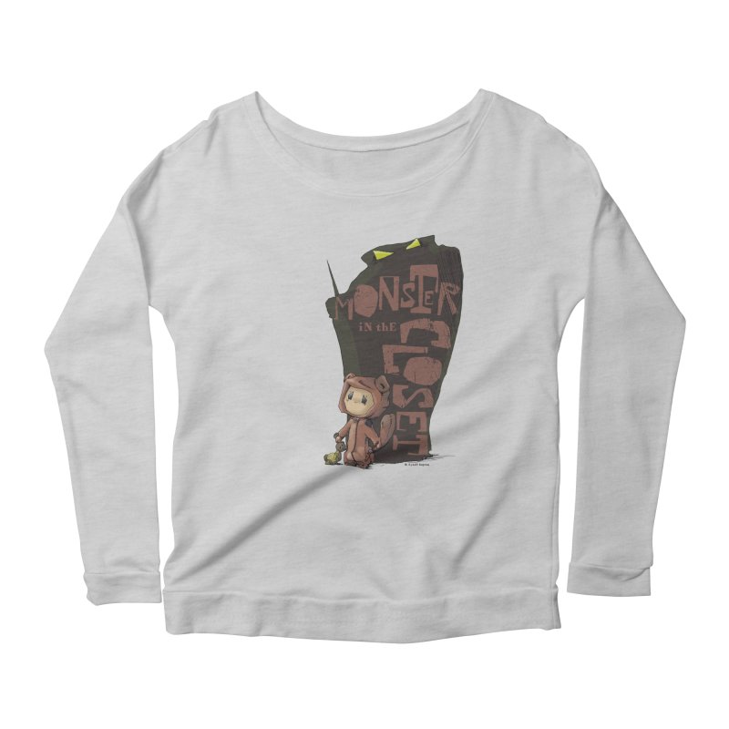 Monster in the Closet Women's Scoop Neck Longsleeve T-Shirt by Lynell Ingram's Shop