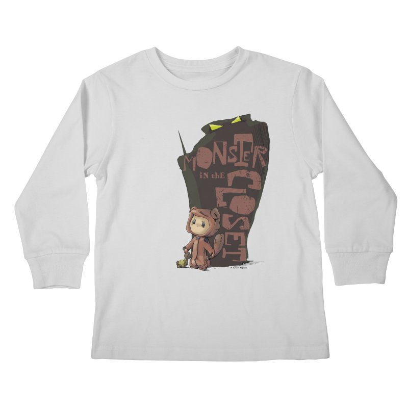 Monster in the Closet Kids Longsleeve T-Shirt by Lynell Ingram's Shop