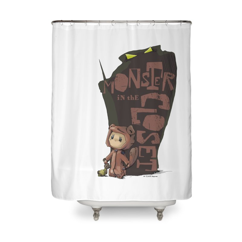 Monster in the Closet Home Shower Curtain by Lynell Ingram's Shop