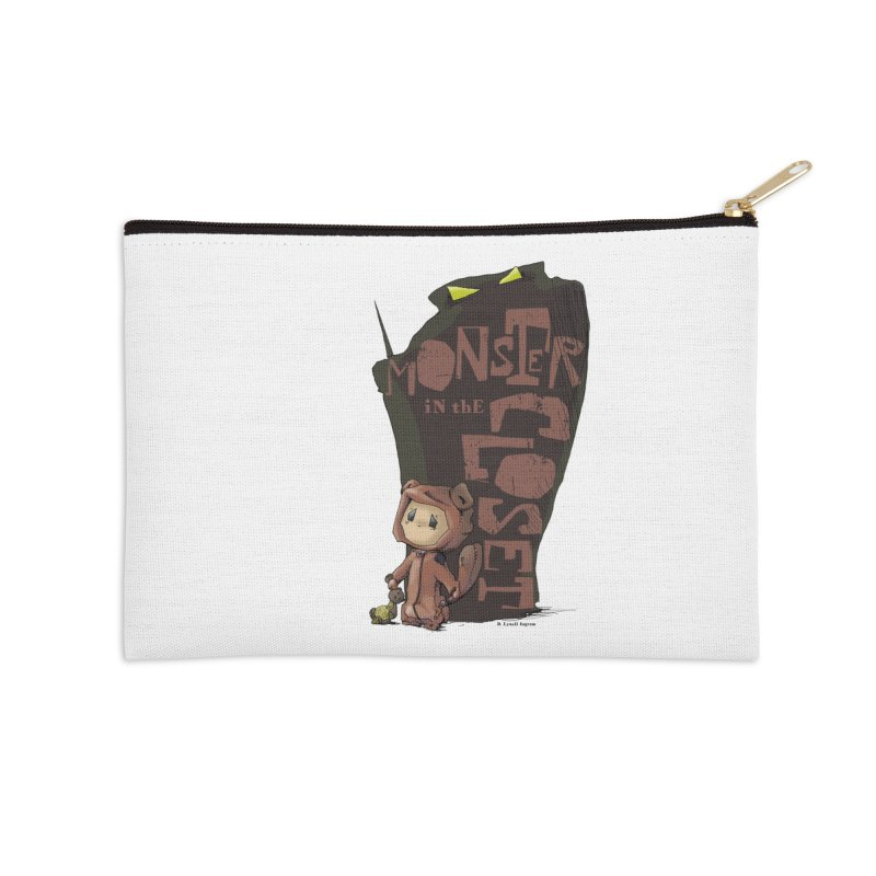 Monster in the Closet Accessories Zip Pouch by Lynell Ingram's Shop
