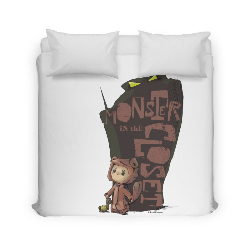 Monster in the Closet Home Duvet by Lynell Ingram's Shop