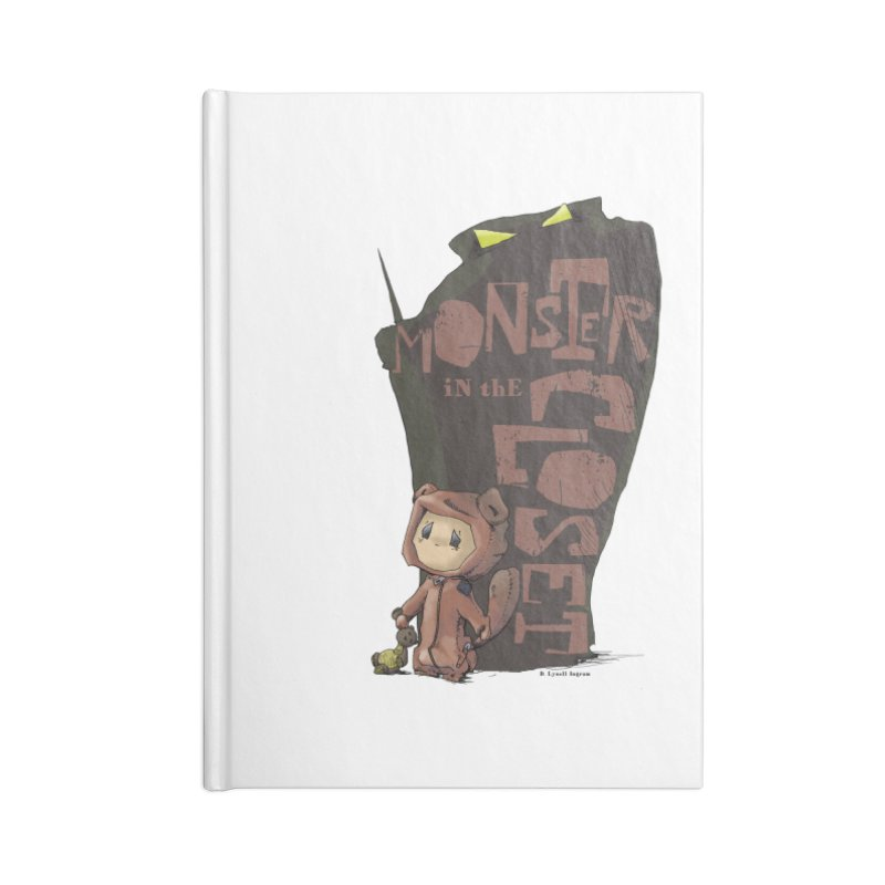 Monster in the Closet Accessories Lined Journal Notebook by Lynell Ingram's Shop