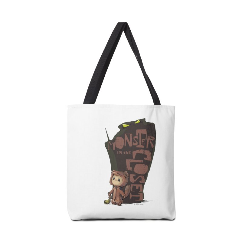 Monster in the Closet Accessories Tote Bag Bag by Lynell Ingram's Shop