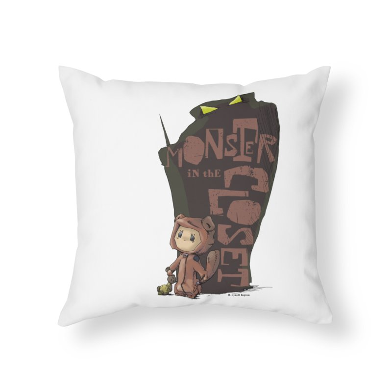 Monster in the Closet Home Throw Pillow by Lynell Ingram's Shop