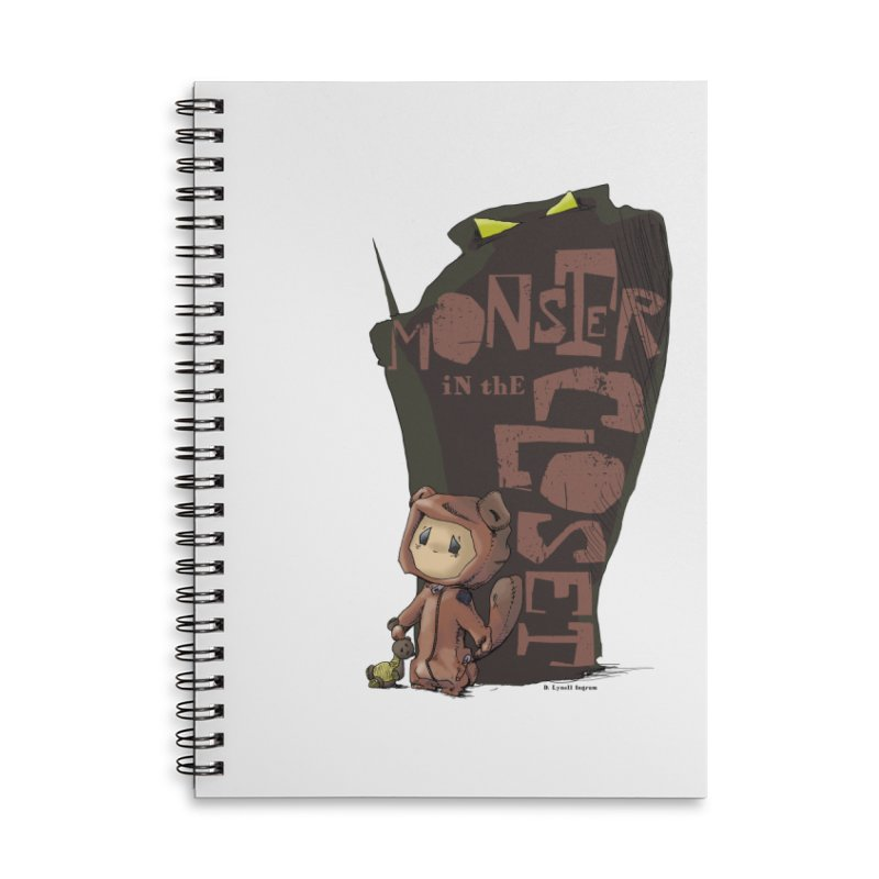 Monster in the Closet Accessories Lined Spiral Notebook by Lynell Ingram's Shop