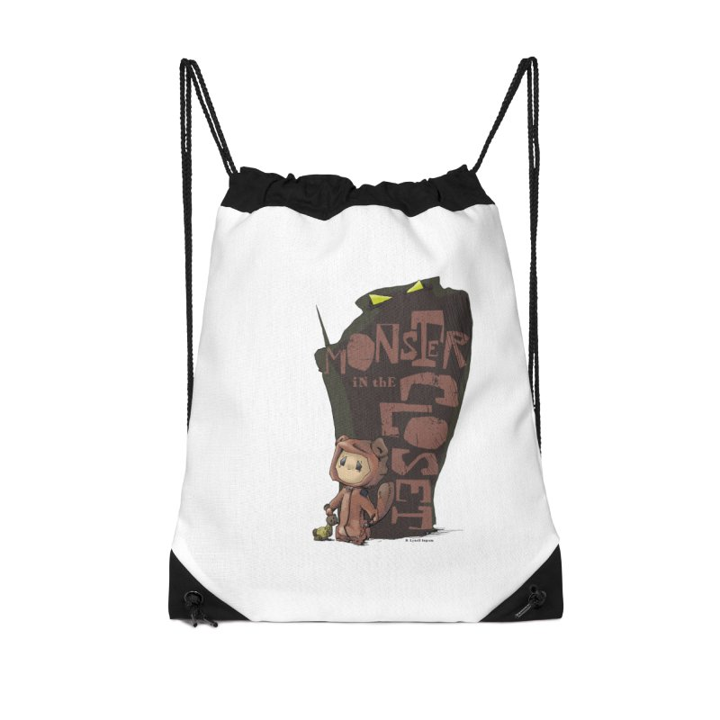 Monster in the Closet Accessories Drawstring Bag Bag by Lynell Ingram's Shop
