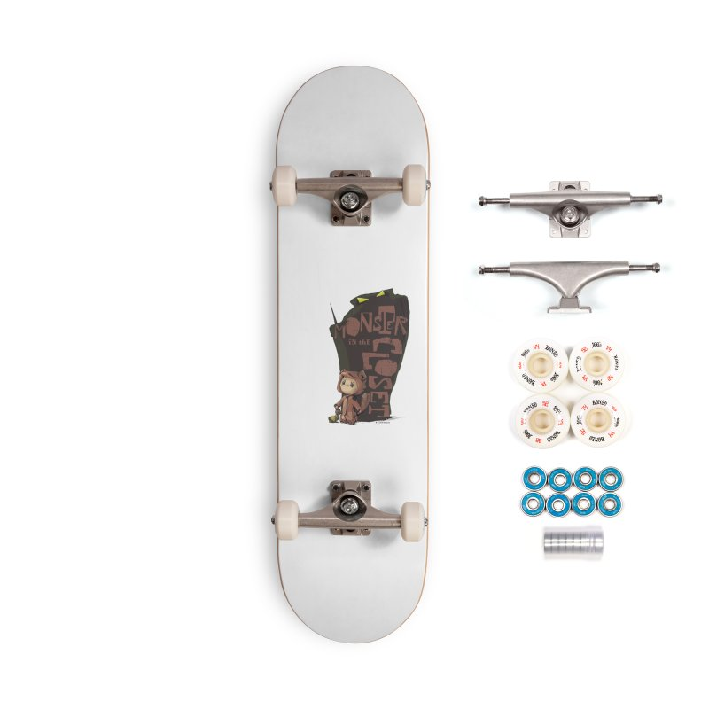 Monster in the Closet Accessories Complete - Premium Skateboard by Lynell Ingram's Shop