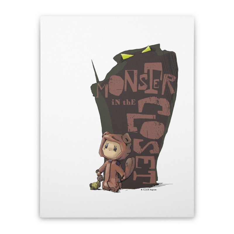 Monster in the Closet Home Stretched Canvas by Lynell Ingram's Shop