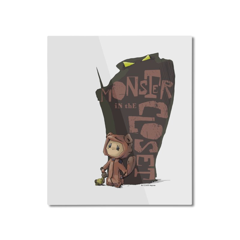 Monster in the Closet Home Mounted Aluminum Print by Lynell Ingram's Shop