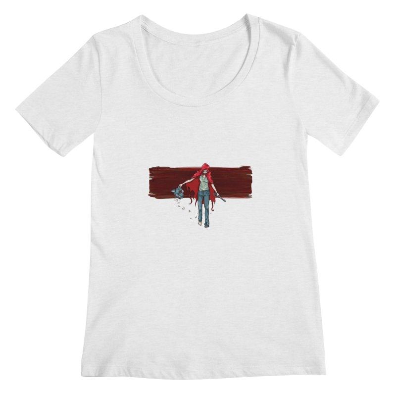 Reds' Revenge Women's Regular Scoop Neck by Lynell Ingram's Shop