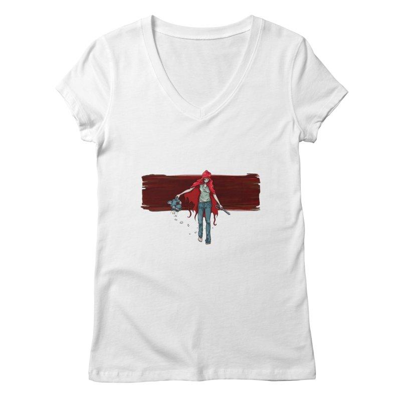 Reds' Revenge Women's Regular V-Neck by Lynell Ingram's Shop