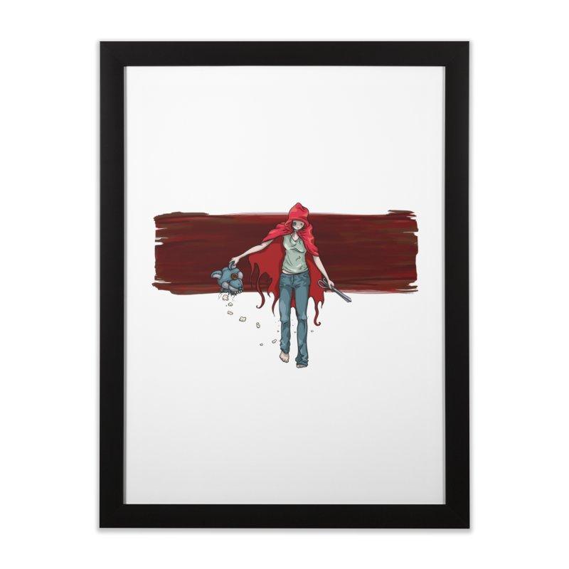 Reds' Revenge Home Framed Fine Art Print by Lynell Ingram's Shop