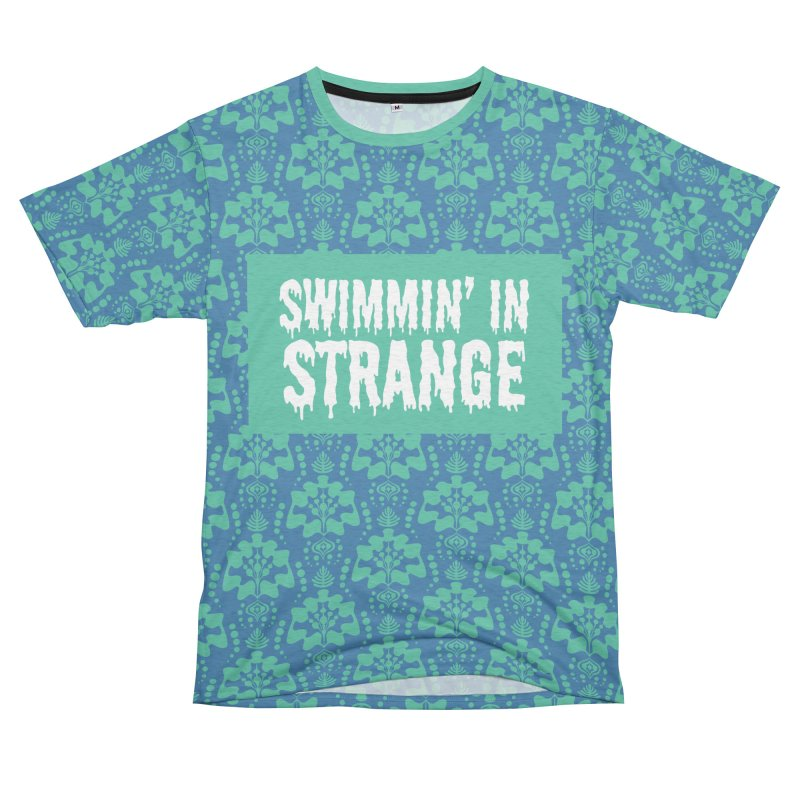 Swimmin' in Strange Men's French Terry T-Shirt Cut & Sew by Lynell Ingram's Shop