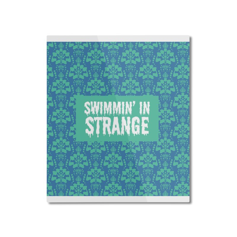 Swimmin' in Strange Home Mounted Aluminum Print by Lynell Ingram's Shop