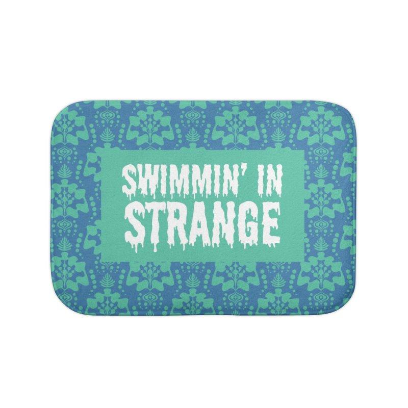 Swimmin' in Strange Home Bath Mat by Lynell Ingram's Shop