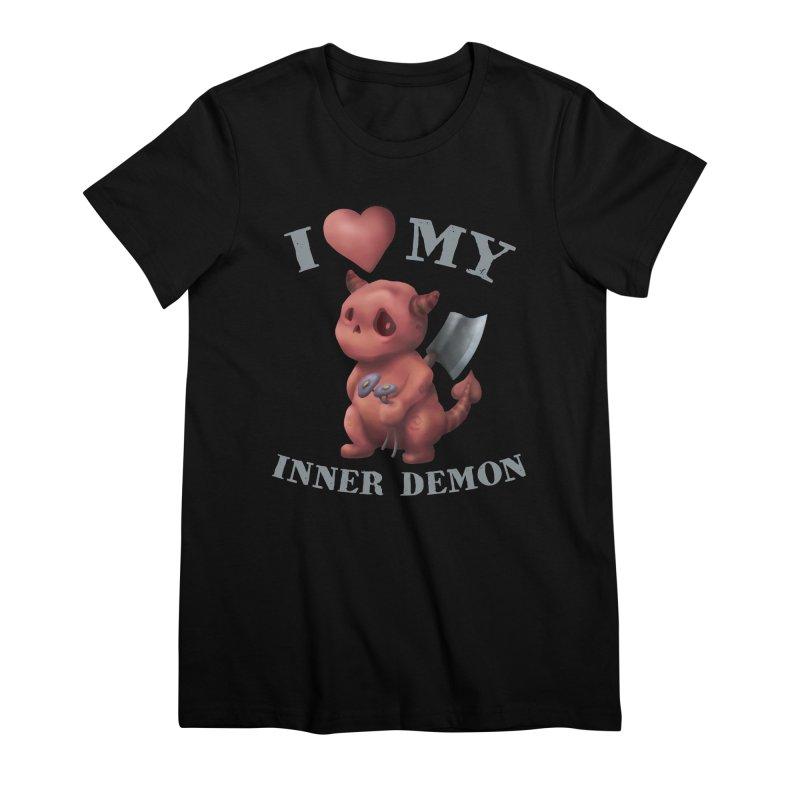 I Love My Inner Demon Women's Premium T-Shirt by Lynell Ingram's Shop